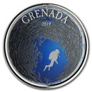 2019 Grenada 1 oz Silver Diving Paradise Proof (Colorized)