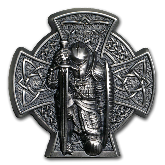 2019 Isle of Man 3 oz Silver Manannán: First King of Mann