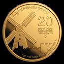 2019 Israel 1 oz Gold Montefiore Windmill Jerusalem BU