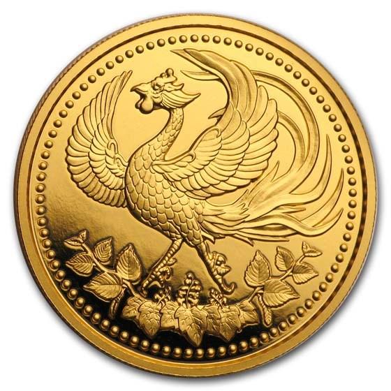 2019 Japan Proof Gold 10K Yen 30th Anniv Enthronement Akihito