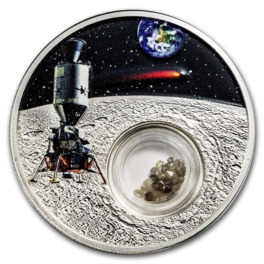 2019 Mesa Grande 1 oz Silver 50th Anniv. Moon Landing Diamonds