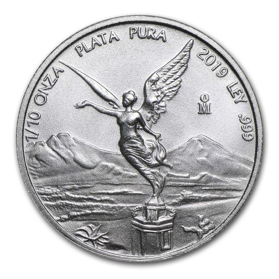 2019 Mexico 1/10 oz Silver Libertad BU