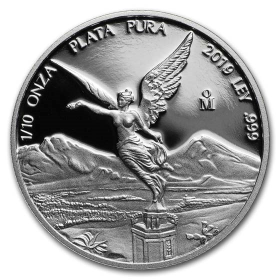 2019 Mexico 1/10 oz Silver Libertad Proof (In Capsule)