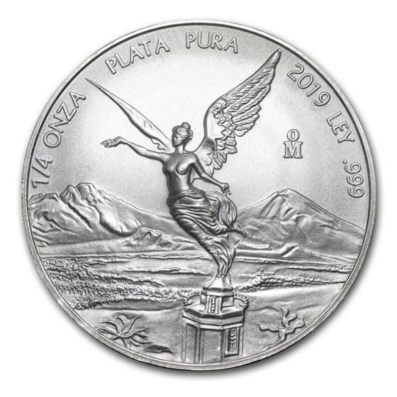 2019 Mexico 1/4 oz Silver Libertad BU