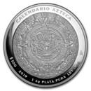 2019 Mexico 1 kilo Silver Aztec Calendar (w/Box & COA)