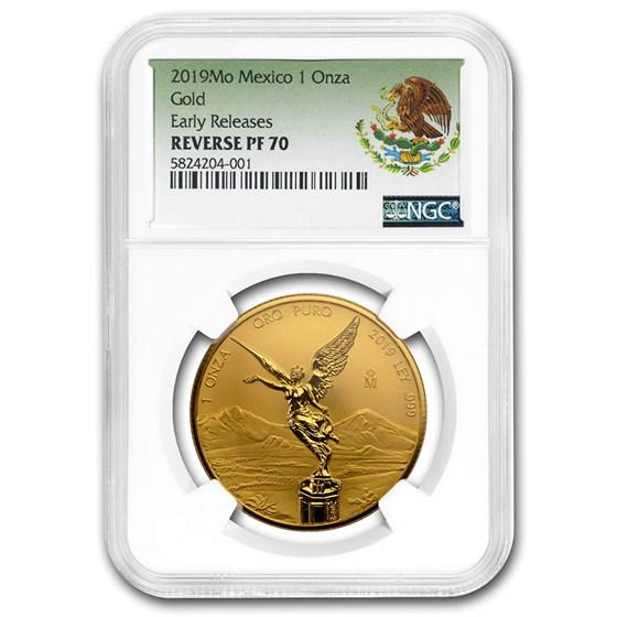 2019 Mexico 1 oz Reverse Proof Gold Libertad PF-70 NGC (ER)