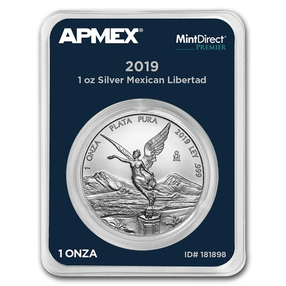 2019 Mexico 1 oz Silver Libertad (MintDirect® Premier Single)