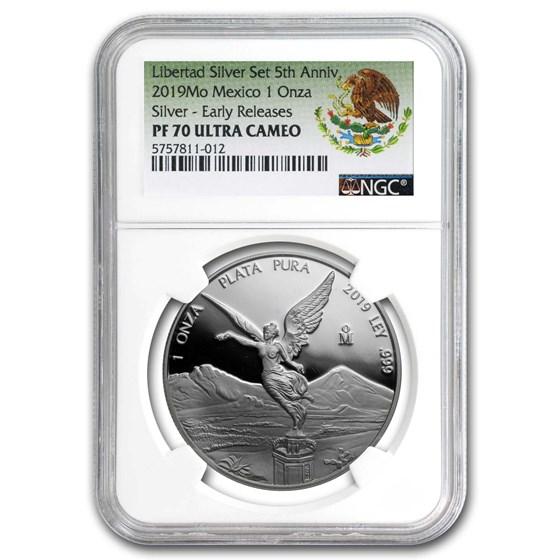 2019 Mexico 1 oz Silver Libertad Proof PF-70 NGC