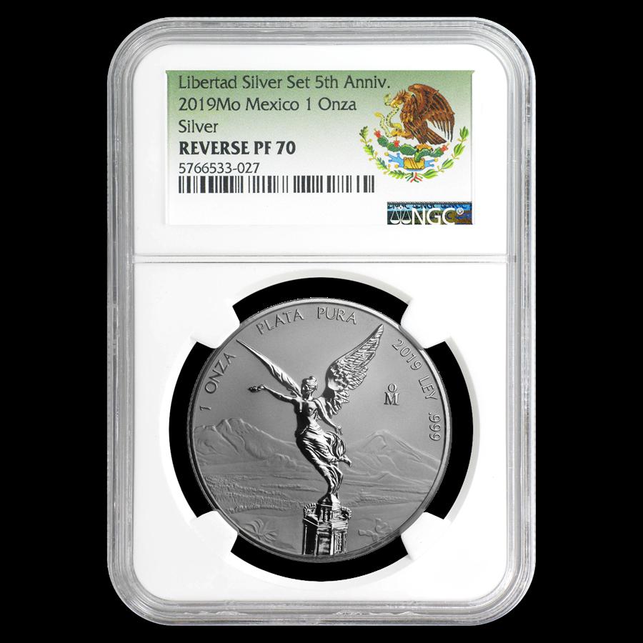 2019 Mexico 1 oz Silver Libertad Reverse Proof PF-70 NGC