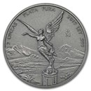 2019 Mexico 2 oz Silver Libertad Antiqued Finish (In Capsule)