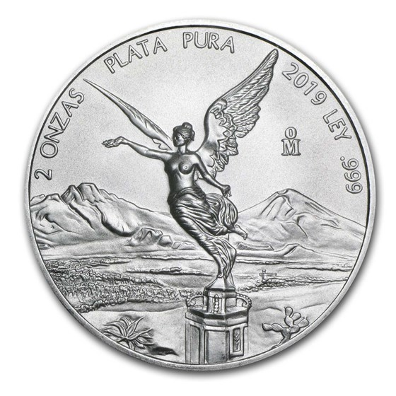 2019 Mexico 2 oz Silver Libertad BU
