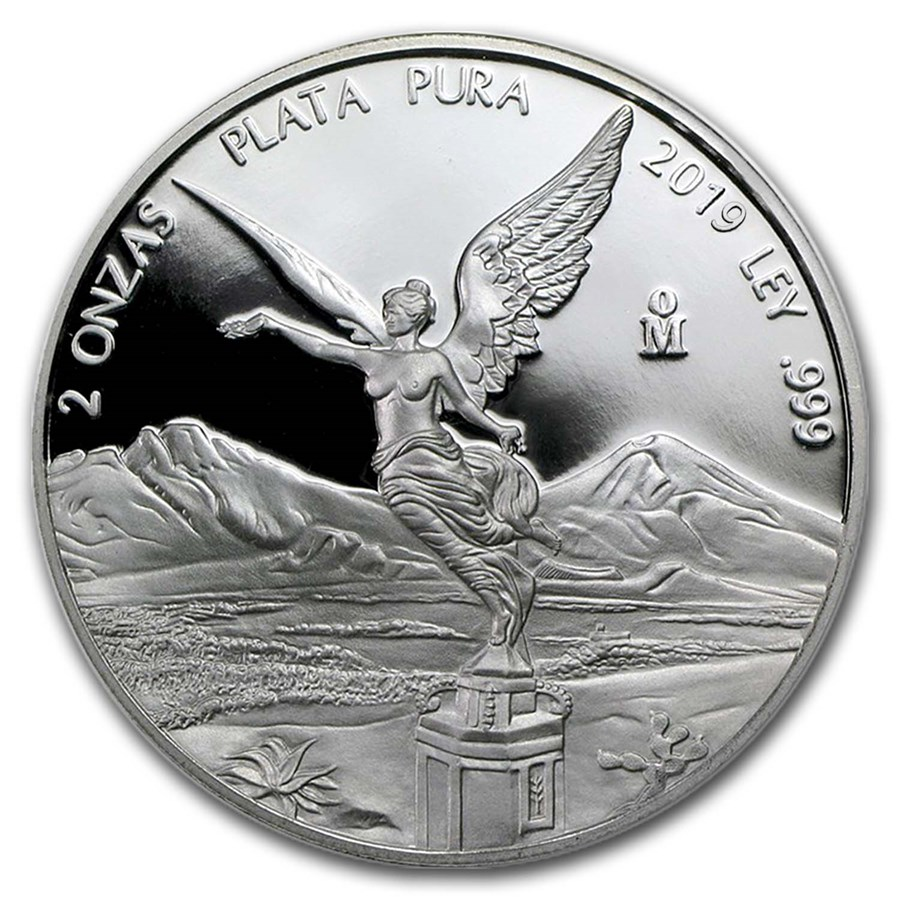 2019 Mexico 2 oz Silver Libertad Proof (In Capsule)