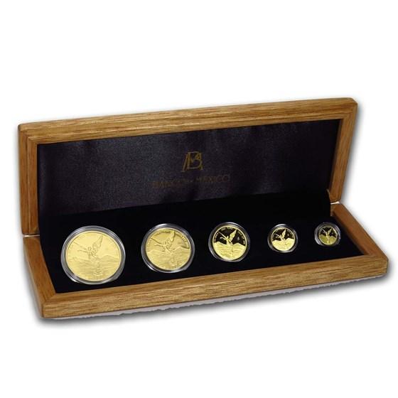 2019 Mexico 5-Coin Gold Libertad Proof Set (1.9 oz, w/Box & COA)