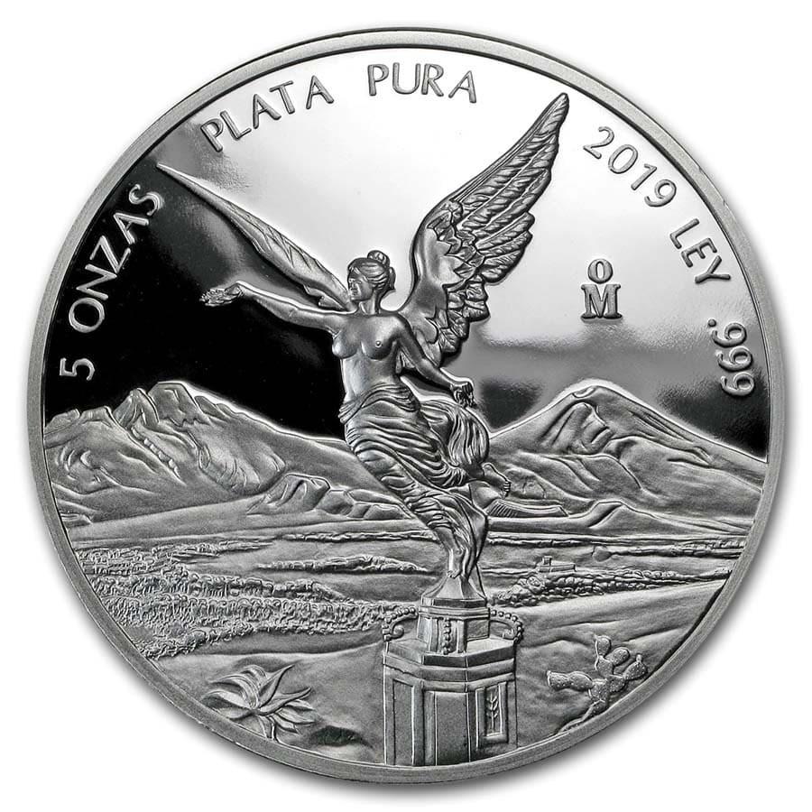 2019 Mexico 5 oz Silver Libertad Proof (In Capsule)