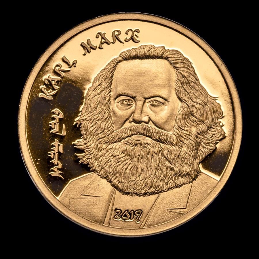2019 Mongolia 1/2 gram Proof Gold Revolutionaries: Karl Marx