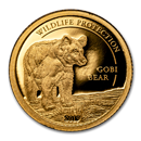 2019 Mongolia 1/2 gram Proof Gold Wildlife Protection Gobi Bear