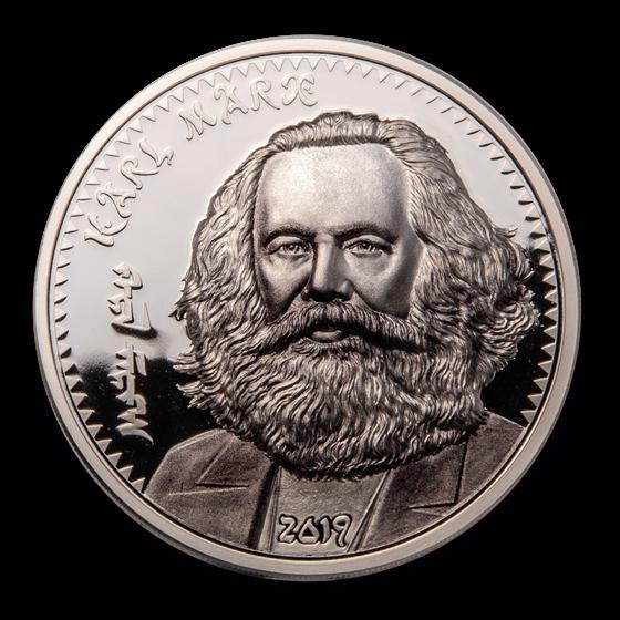 2019 Mongolia 1 oz Silver Revolutionaries (Karl Marx)