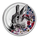 2019 Mongolia 1 oz Silver Woodland Spirits (Rabbit)