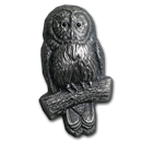 2019 Mongolia 2 oz Silver 3D Mongolian Wildlife Shaped Ural Owl