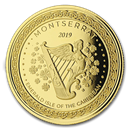 2019 Montserrat 1 oz Gold Emerald Isle of the Caribbean BU