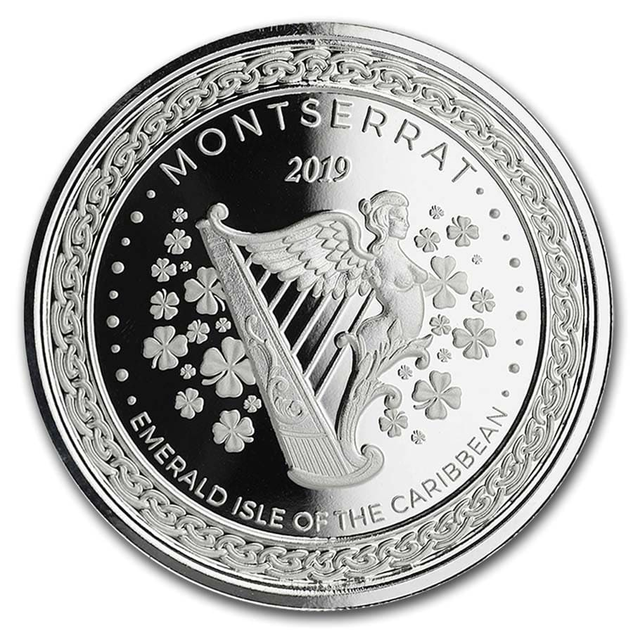 2019 Montserrat 1 oz Silver Emerald Isle of the Caribbean BU