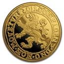 2019 Netherlands 1 oz Gold Proof Lion Dollar (w/Box & COA)
