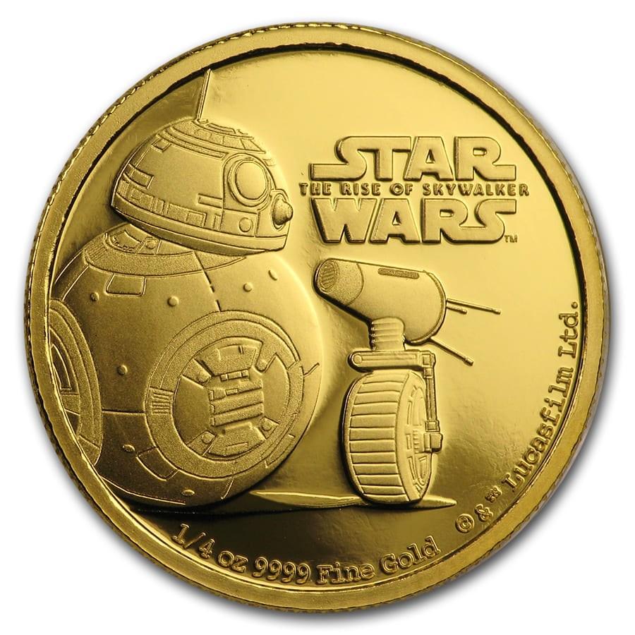 2019 Niue 1/4 oz Gold Star Wars BB-8 & D-O (Box & COA)