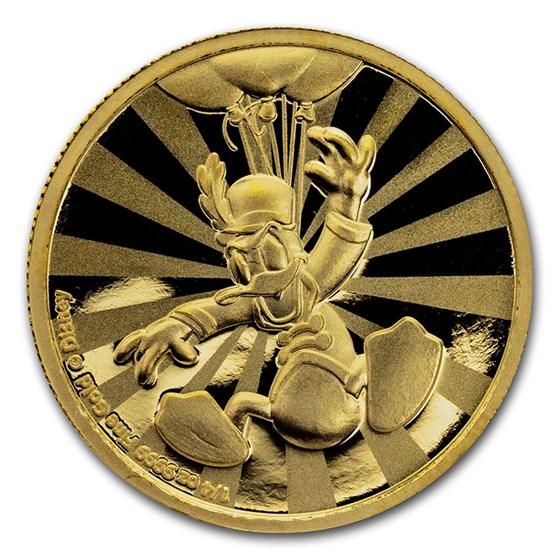 2019 Niue 1/4 oz Proof Gold $25 Disney: Donald Duck