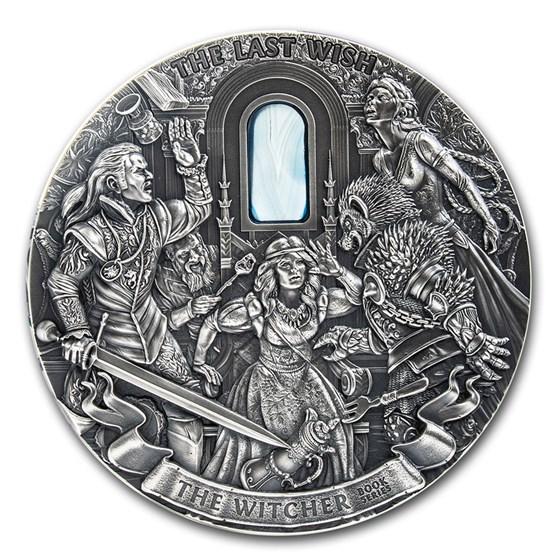 2019 Niue 1 kilo Antique Silver The Witcher: The Last Wish