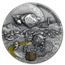 2019 Niue 1 oz Antique Silver Space Mining Station II
