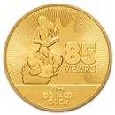 2019 Niue 1 oz Gold $250 Disney Donald Duck 85th Anniversary BU
