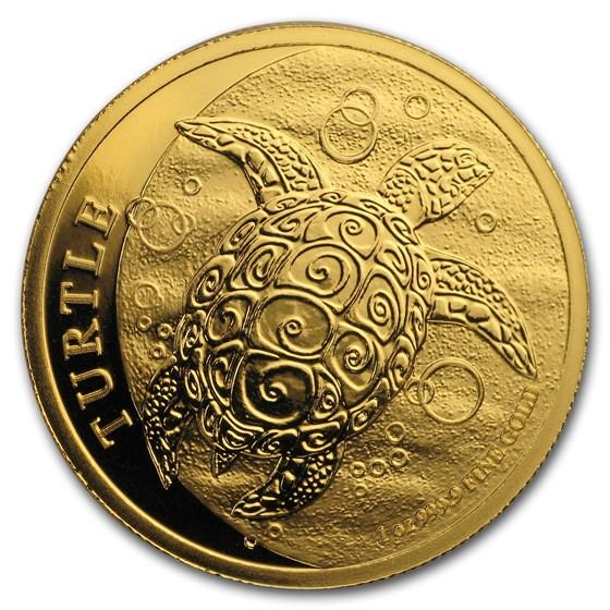 2019 Niue 1 oz Gold $250 Hawksbill Turtle BU