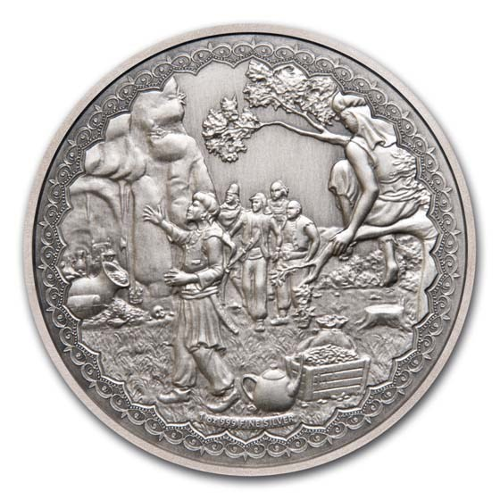 2019 Niue 1 oz Silver $2 Ali Baba and the Forty Thieves