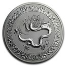 2019 Niue 1 oz Silver $2 Celestial Animals The Dragon (Abrasions)