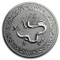 2019 Niue 1 oz Silver $2 Celestial Animals The Dragon (Abrasions)