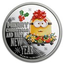 2019 Niue 1 oz Silver $2 Despicable Me: Christmas Minion Proof