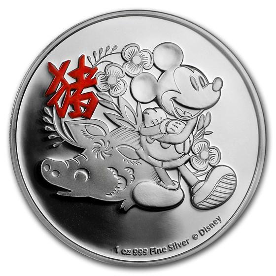 2019 Niue 1 oz Silver $2 Disney Lunar Year of the Pig