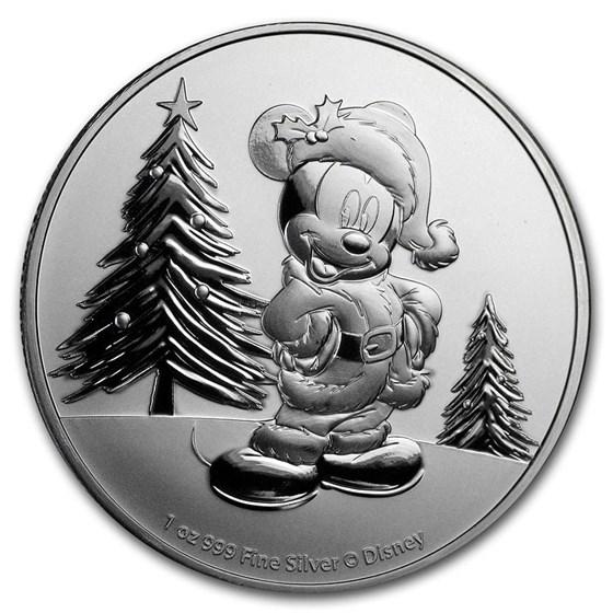 2019 Niue 1 oz Silver $2 Disney Mickey Mouse Christmas BU