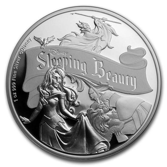 2019 Niue 1 oz Silver $2 Disney Sleeping Beauty 60th Anniversary