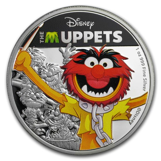 2019 Niue 1 oz Silver $2 Disney The Muppets: Animal