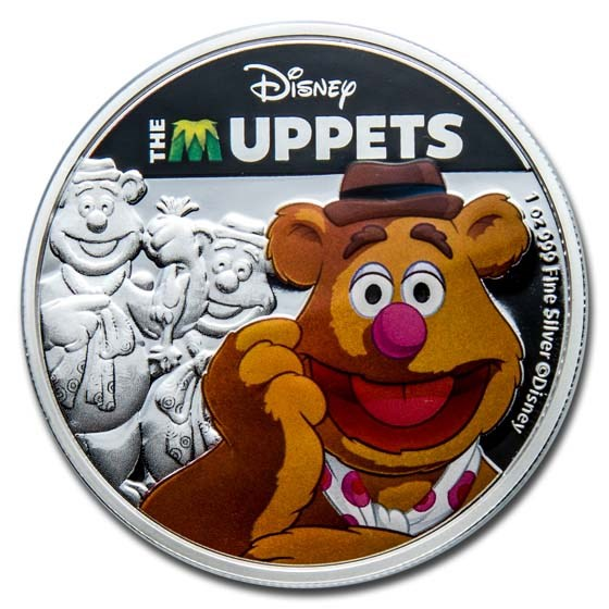 2019 Niue 1 oz Silver $2 Disney The Muppets: Fozzie Bear