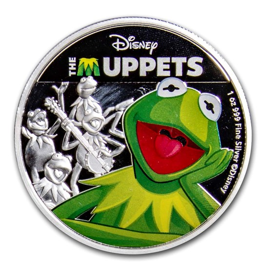 2019 Niue 1 oz Silver $2 Disney The Muppets: Kermit