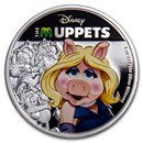 2019 Niue 1 oz Silver $2 Disney The Muppets: Miss Piggy