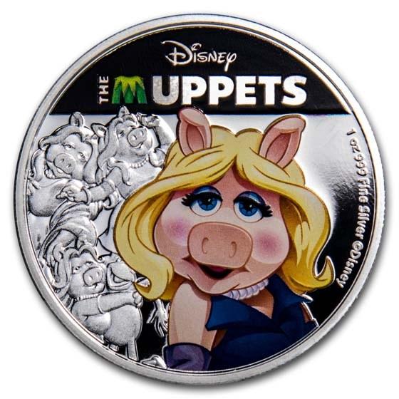2019 Niue 1 oz Silver $2 Disney The Muppets: Miss Piggy