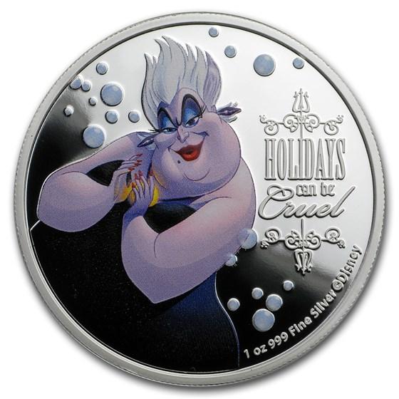 2019 Niue 1 oz Silver $2 Disney Villains Ursula