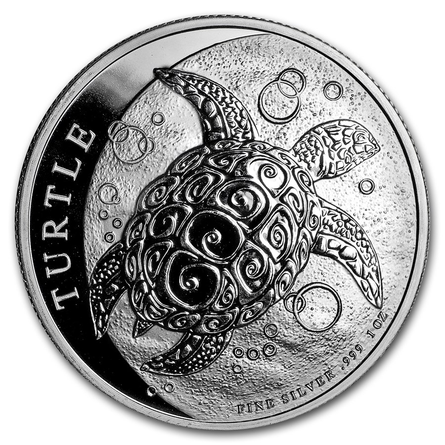 2019 Niue 1 oz Silver $2 Hawksbill Turtle