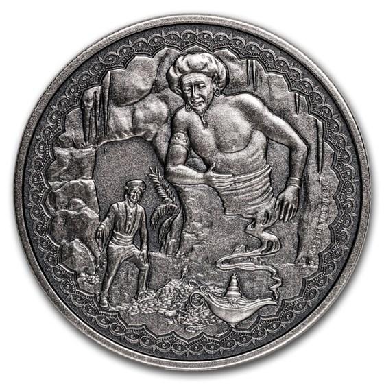 2019 Niue 1 oz Silver $2 Legendary Tales: Aladdin