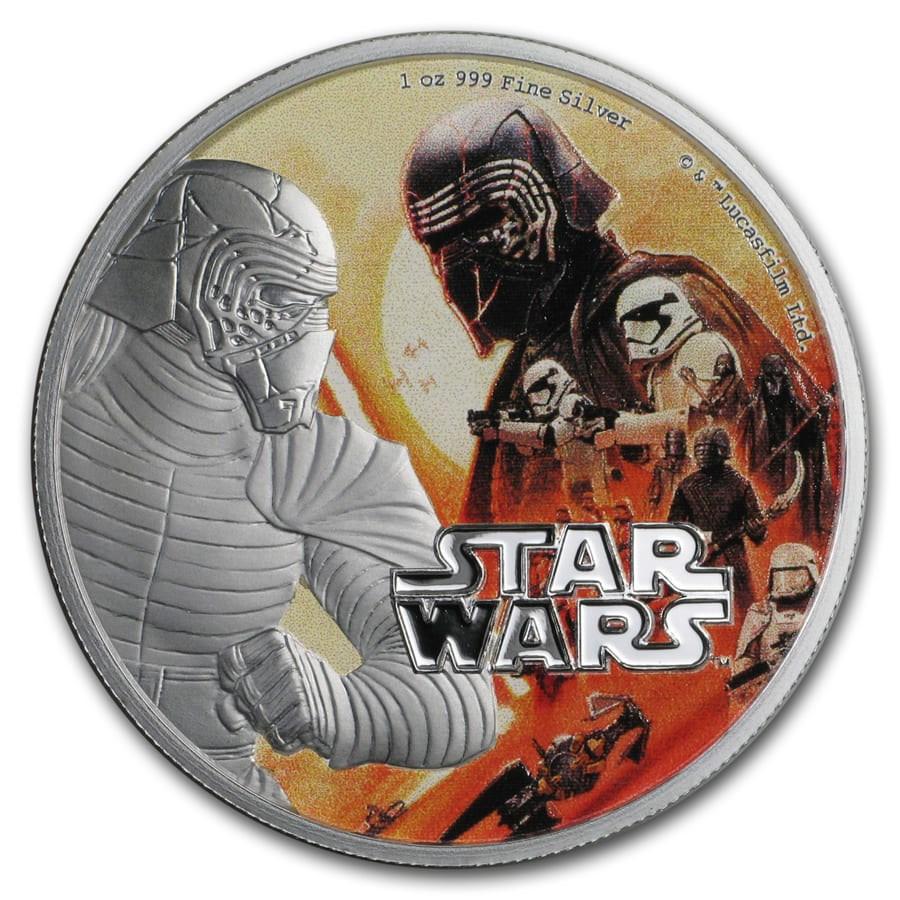 2019 Niue 1 oz Silver $2 Star Wars Rise of Skywalker: Kylo Ren