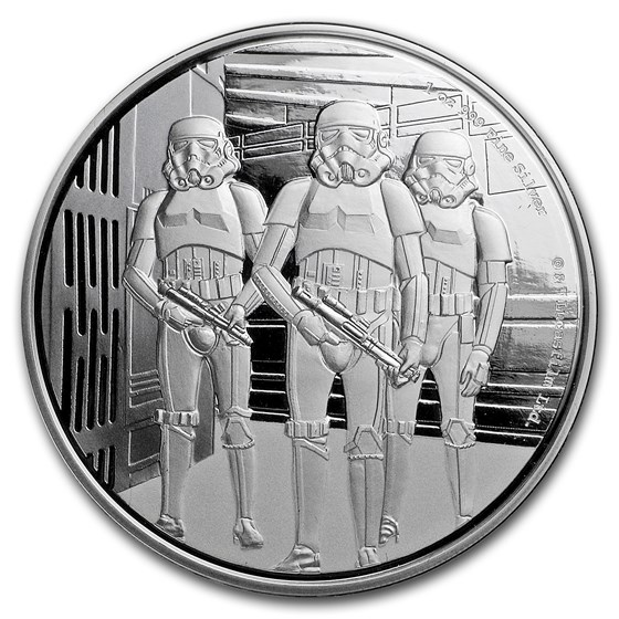 2019 Niue 1 oz Silver $2 Star Wars Stormtrooper (w/Box, COA)