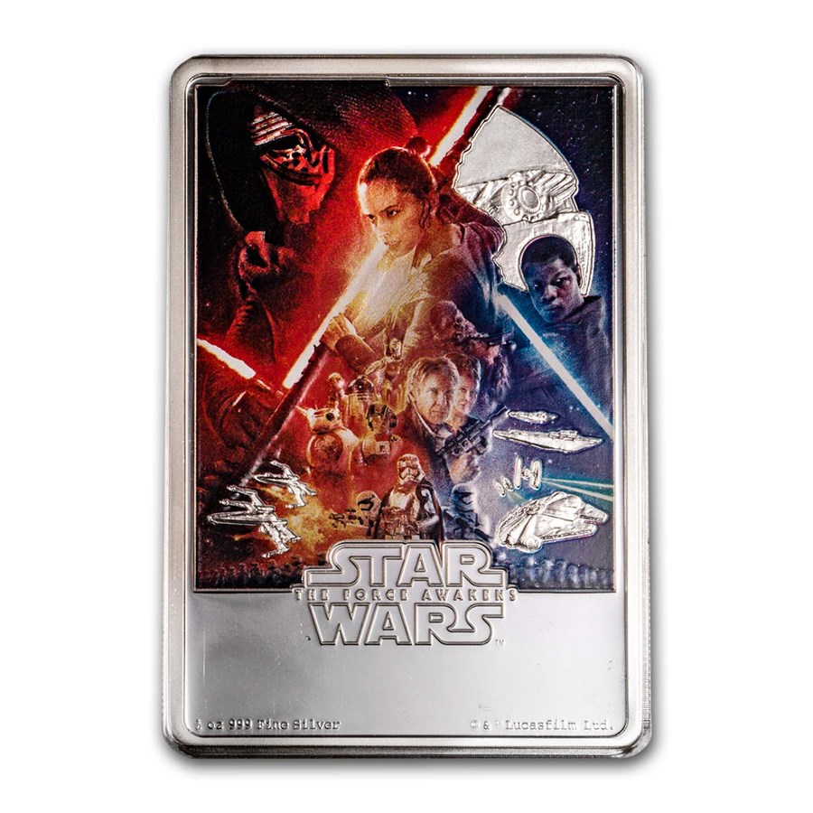 2019 Niue 1 oz Silver $2 Star Wars The Force Awakens Poster